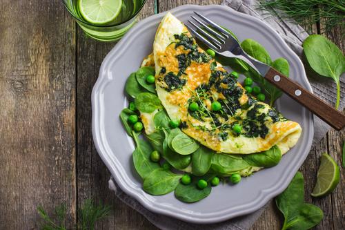 Frittata con spinaci e piselli SGProgram Selene Genisella