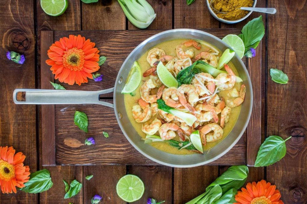 spadellata di gamberi in salsa di ginger e curry selene genisella sgprogram