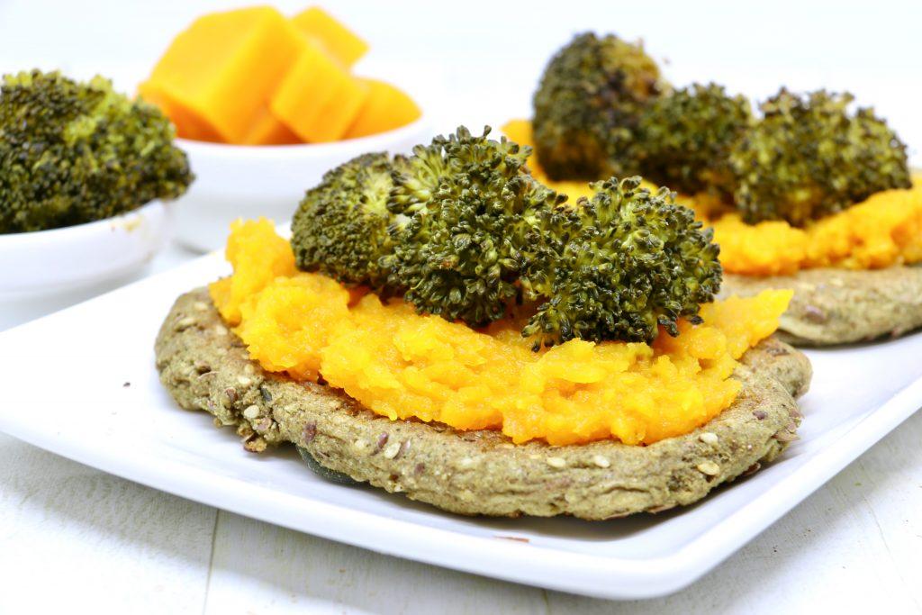 Bruschette vegane con crema di zucca